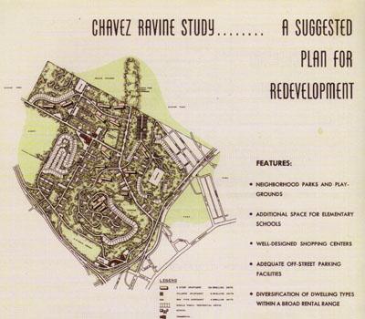 Plan for public housing at Cavez Ravine